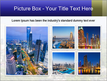 Green City Panorama PowerPoint Template - Slide 19