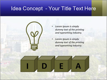 Green City Panorama PowerPoint Template - Slide 80