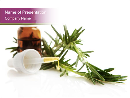 Rosemary Essential Oil PowerPoint Template