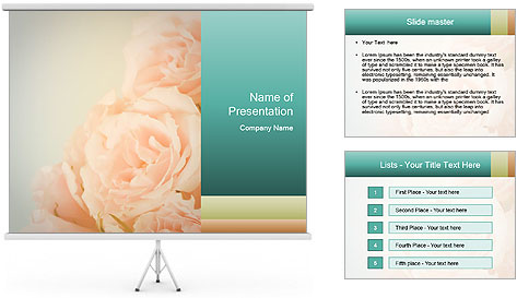 Cream Roses PowerPoint Template