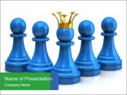 Blue Chess Figures PowerPoint Templates