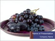 Blueberries And Wine Grapes PowerPoint Templates