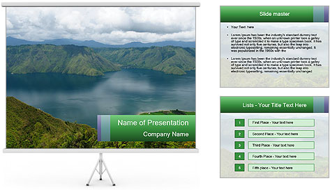 View from the Samosir island PowerPoint Template
