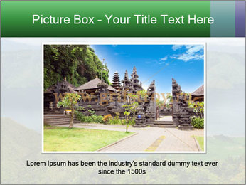 View from the Samosir island PowerPoint Templates - Slide 15