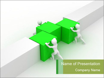 Men with boxes PowerPoint Template