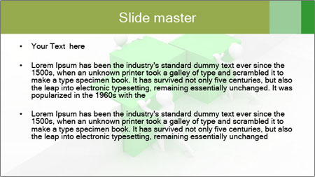 Men with boxes PowerPoint Template - Slide 2