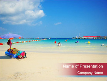 View of thailand beach PowerPoint Template - Slide 1