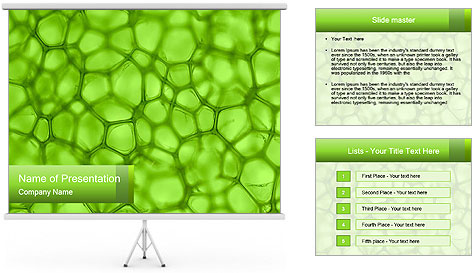 Cell green background PowerPoint Template