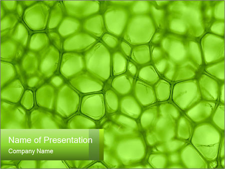Cell green background PowerPoint Templates