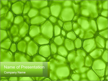 Cell green background PowerPoint Template - Slide 1
