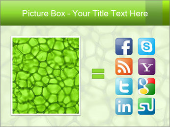 Cell green background PowerPoint Template - Slide 21