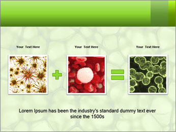 Cell green background PowerPoint Template - Slide 22
