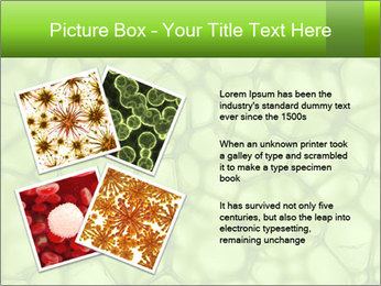 Cell green background PowerPoint Template - Slide 23