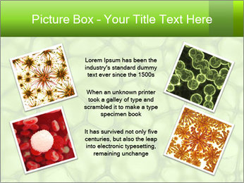 Cell green background PowerPoint Template - Slide 24