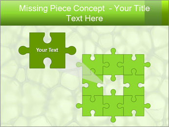 Cell green background PowerPoint Template - Slide 45