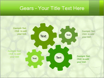 Cell green background PowerPoint Template - Slide 47