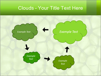 Cell green background PowerPoint Template - Slide 72