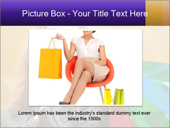 Happy Woman After Shopping PowerPoint Template - Slide 15