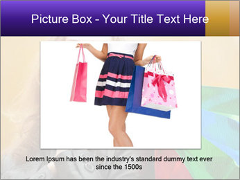 Happy Woman After Shopping PowerPoint Template - Slide 16