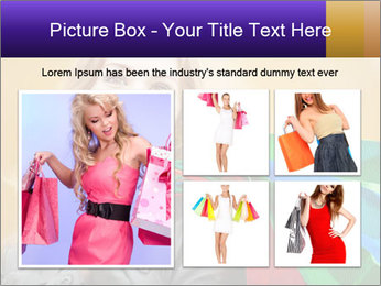 Happy Woman After Shopping PowerPoint Template - Slide 19
