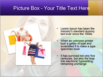 Happy Woman After Shopping PowerPoint Template - Slide 20