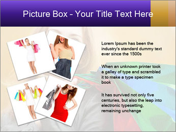 Happy Woman After Shopping PowerPoint Template - Slide 23