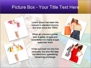 Happy Woman After Shopping PowerPoint Template - Slide 24