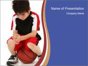 Sad Junior Football Player PowerPoint Templates