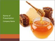 Pot of honey PowerPoint Template