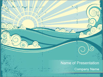 Sea Vector PowerPoint Template - Slide 1