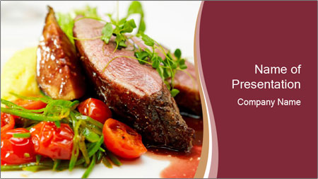 Meat Dish PowerPoint Template