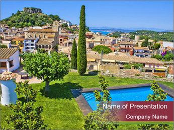 Mediterranean Vacation PowerPoint Template
