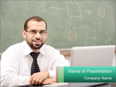 Positive School Teacher PowerPoint Template