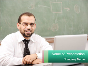 Positive School Teacher PowerPoint Template