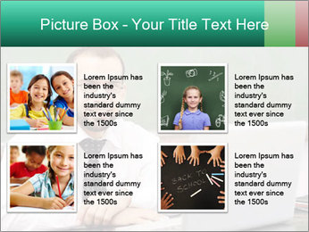 Positive School Teacher PowerPoint Template - Slide 14
