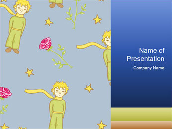 Little Prince Pattern PowerPoint Template - Slide 1