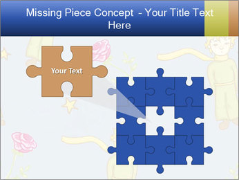 Little Prince Pattern PowerPoint Template - Slide 45