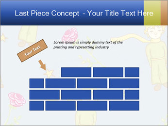 Little Prince Pattern PowerPoint Template - Slide 46