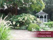 Kiosk In Garden PowerPoint Template