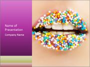 Candy Lips PowerPoint Templates