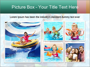 Mother And Children Diving In Pool PowerPoint Templates - Slide 19