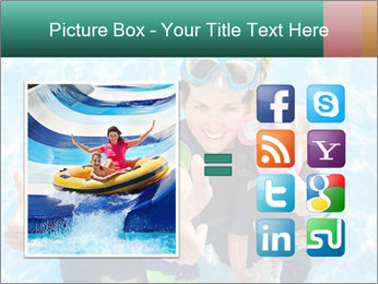 Mother And Children Diving In Pool PowerPoint Templates - Slide 21