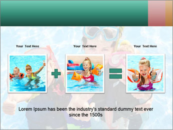 Mother And Children Diving In Pool PowerPoint Templates - Slide 22