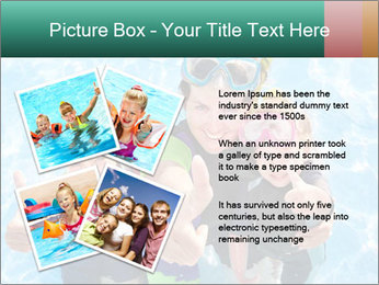 Mother And Children Diving In Pool PowerPoint Templates - Slide 23