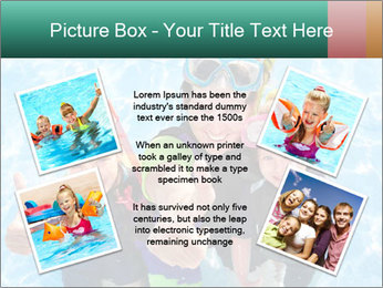 Mother And Children Diving In Pool PowerPoint Templates - Slide 24