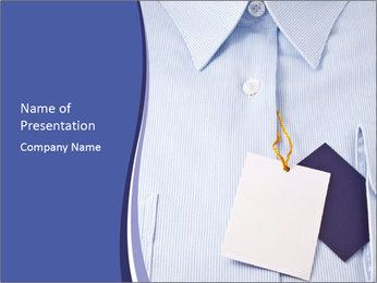 Blue Shirt With Brand Label PowerPoint Template