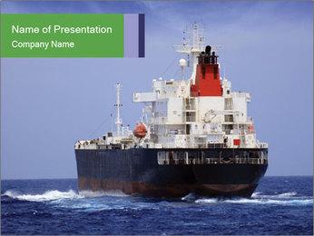 Oil Tanker PowerPoint Template - Slide 1