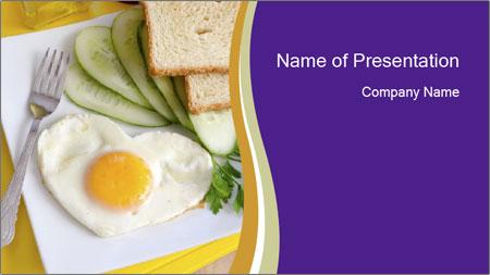 Heart-Shaped Egg For Breakfast PowerPoint Template
