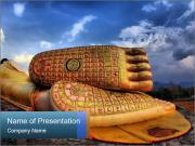 Buddha Feet PowerPoint Templates