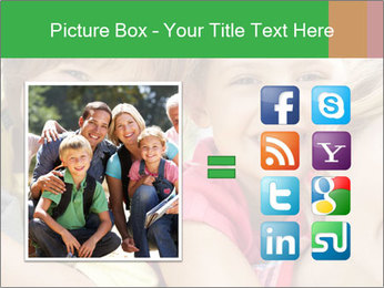 Smiling Family With Kids PowerPoint Template - Slide 21